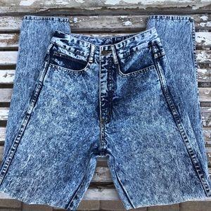 Vintage JOAN D'ARC High Rise Acid Washed Mom Jean